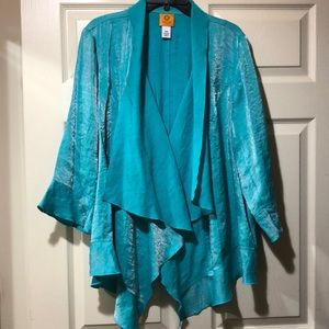 Beautiful turquoise waterfall cardigan